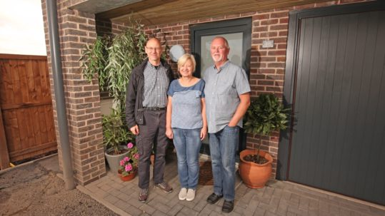 L-R Pete Conboy (from Blueprint) with Sue Flack and Brian Wooding