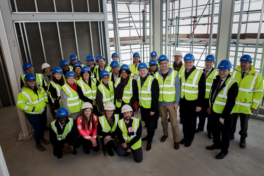 Photos © Joel Chant - UNP- 37704-10/11/17  Leathermarket CBS Topping out ceremony London